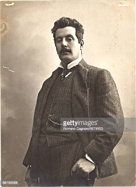 Italian composer Giacomo Puccini , circa 1890.