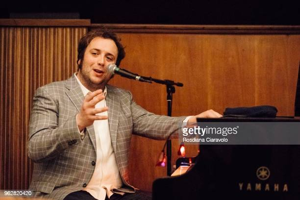 Italian composer singer and pianist Raphael Gualazzi attends Wired Next Fest on May 26 2018 in Milan Italy