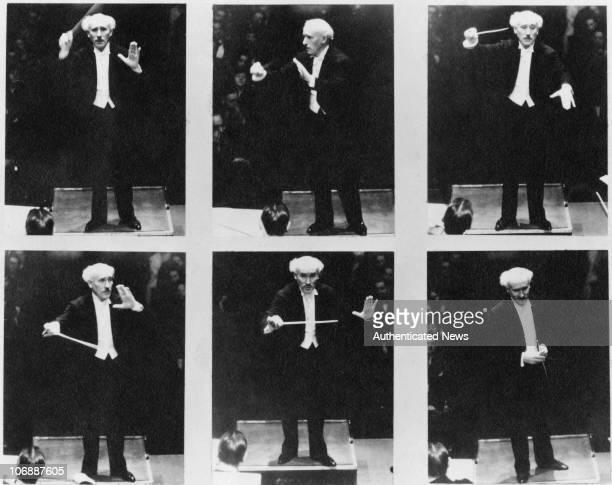 Italian conductor Arturo Toscanini circa 1945