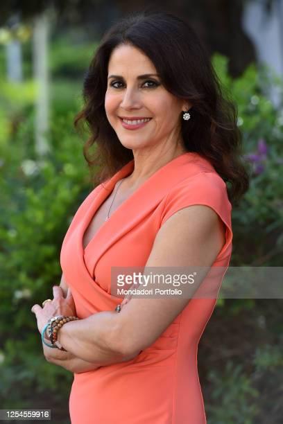 Italian Conductor Barbara Capponi attend tv broadcast Uno Mattina Estate photocall in Saxa Rubra Rome July 03rd 2020