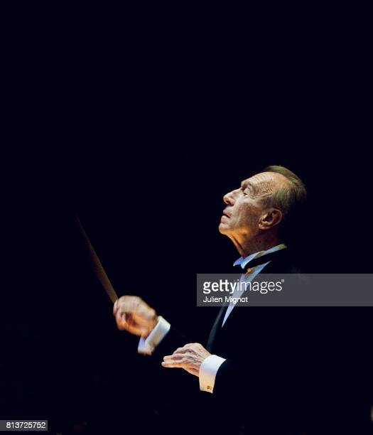 Italian Conductor Claudio Abbado is photographed for Self Assignment onOctober 8 2011 in Paris France