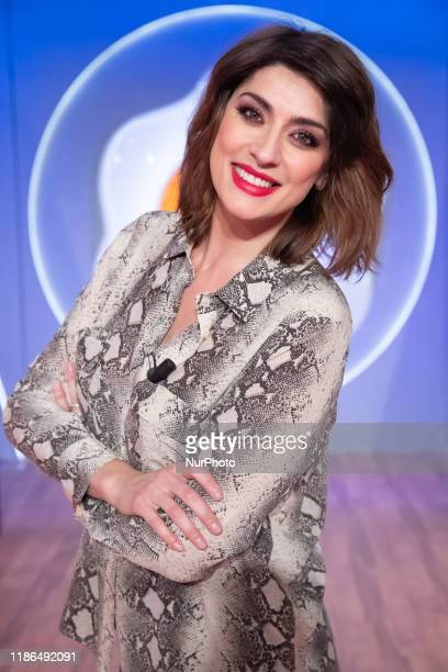 Italian conductor Elisa Isoardi during tv broadcast L''a prova del cuoco'' in Rome Italy on December 4 2019