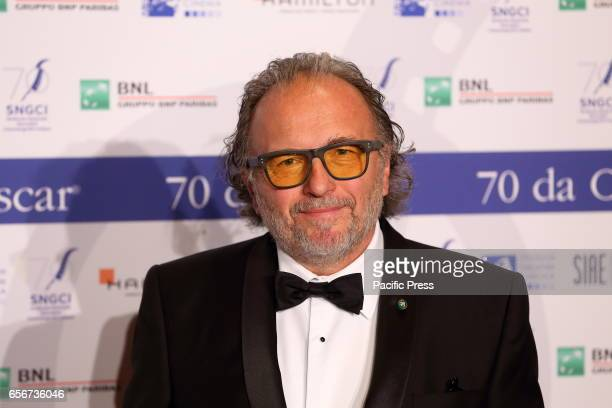 Italian costume designer Alessandro Bertolazzi during photocall of the evening concludes special events for the first 70 years of the Syndicate of...