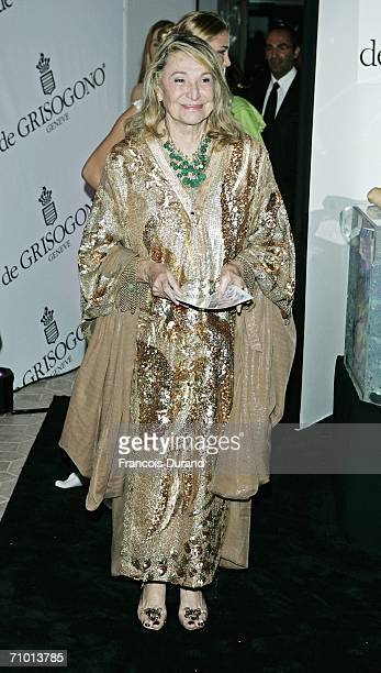 Italian Countess Marta Marzotto attends the De Grisogono party at Hotel Du Cap on May 22 2006 in Cap d'Antibes France