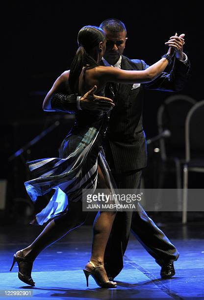 Italian couple Mauro Zompa and Sara Masi dance to get the fourth place in the Tango Salon competition, during the 9th Tango Dance World Championship...