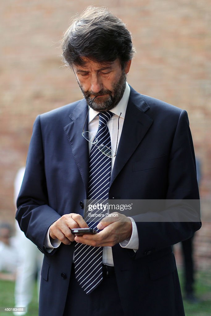 Italian Culture Minister Dario Franceschini attends the official opening of Italian Pavilion at Corderie dell'Arsenale during the opening of The 14th International Architecture Exhibition on June 6, 2014 in Venice, Italy.