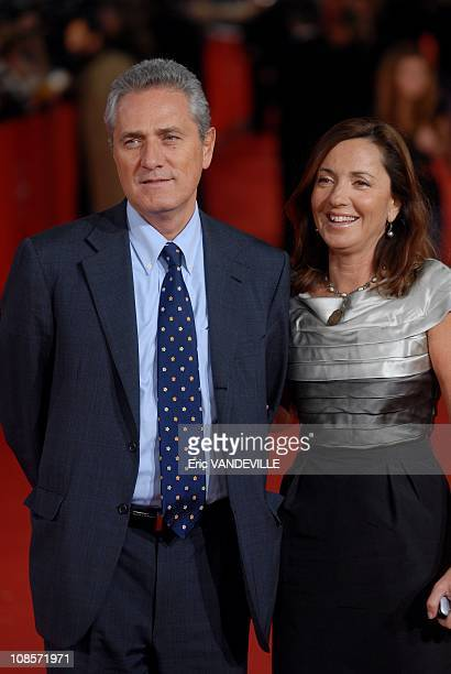 Italian Culture Minister Francesco Rutelli and his wife Barbara Palombelli at Rome Film Festival Premiere of the film 'Elizabeth The Golden Age' in...