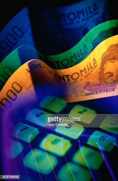 Italian Currency and Keypad