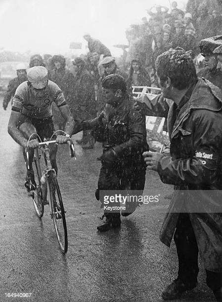 Italian cyclist Felice Gimondi comes in third in the Tour of Italy 1st June 1968