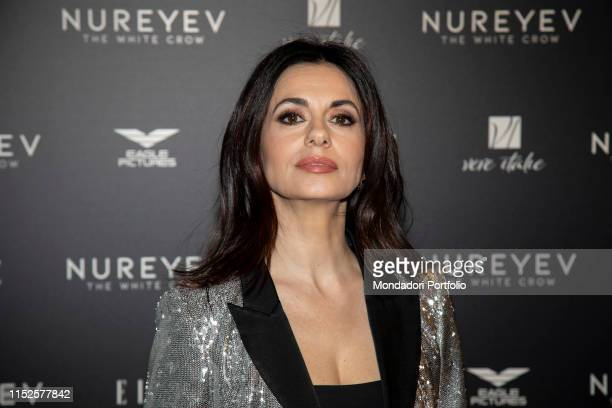Italian dancer TV host radio host actress and dance teacher Rossella Brescia during Nureyev The White Crow premiere at the Cinema Colosseo Milan May...