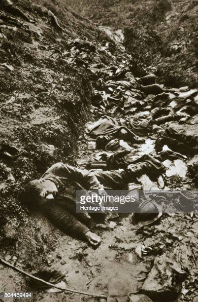 Italian dead at Cividale World War I c1917c1918 651000 Italian soldiers were killed during the First World War Artist Unknown