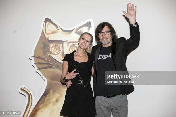Italian Deejay Claudio Cecchetto and his wife Maria Paola Danna attends at book fair Tempo di Libri during the Telegatto Event, Milan, March 12th,...