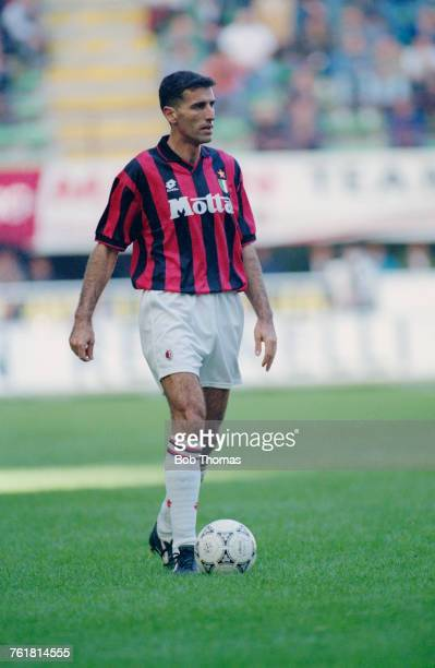 Italian defender Mauro Tassotti in action for AC Milan during the 199394 season