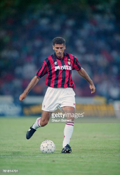 Italian defender Mauro Tassotti in action for AC Milan July 1993