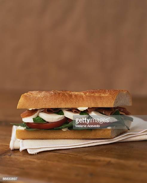 Italian deli sandwich
