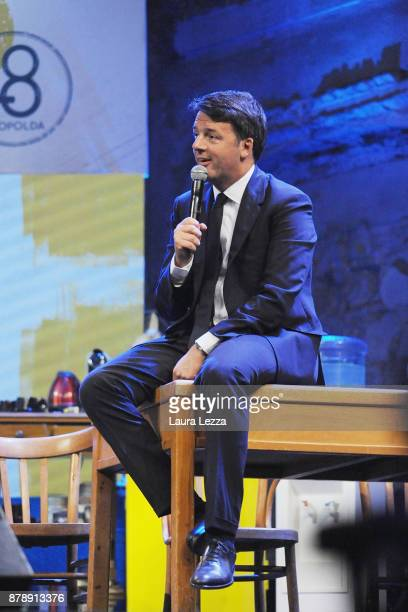 Italian Democratic Party leader Matteo Renzi speaks during the meeting of the Leopolda 8 on November 24 2017 in Florence Italy The Leopolda an annual...