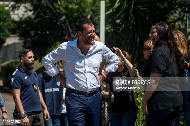 Italian Deputy Prime Minister and Interior Minister visits the Rome's largest cattery located in the Verano Cemetary as part of the initiative...
