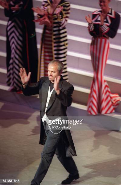 Italian designer Gianni Versace arrives on scene to receive the 1992 Council of Fashion Designers of America International Award at the council's...