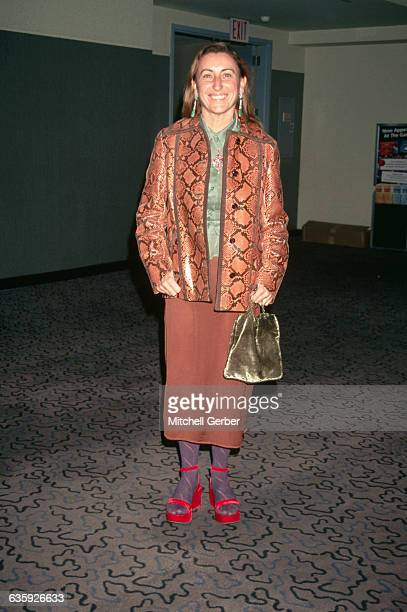 Italian designer Miuccia Prada wears some of her creations to the VH-1 Fashion and Music Awards.
