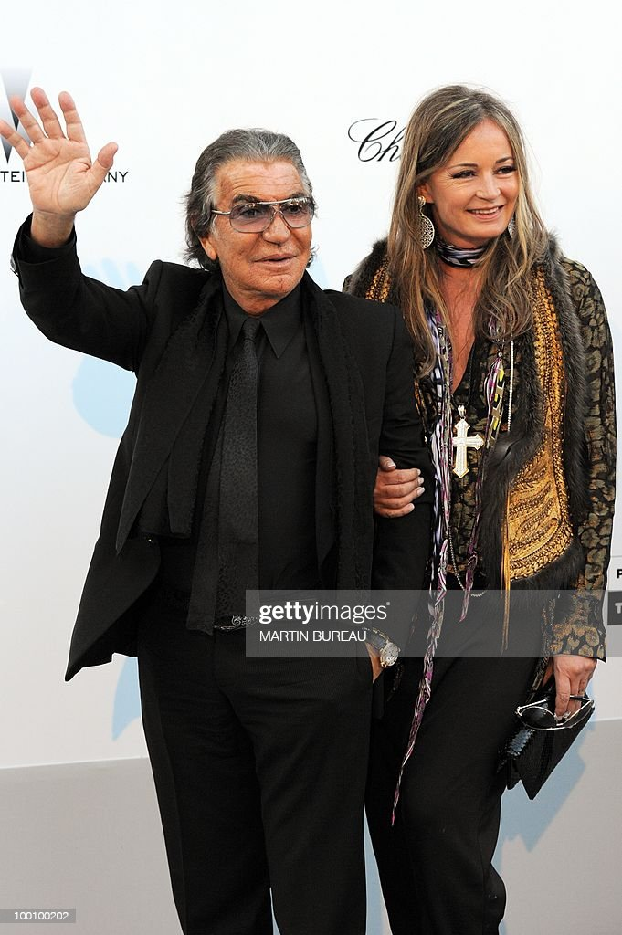 Italian designer Roberto Cavalli arrives at amfAR's Cinema Against Aids 2010 benefit gala on May 20, 2010 in Antibes, southeastern France.