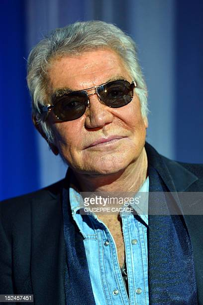 Italian designer Roberto Cavalli poses prior the Just Cavalli SpringSummer 2013 collection on September 21 2012 during the Women's fashion week in...