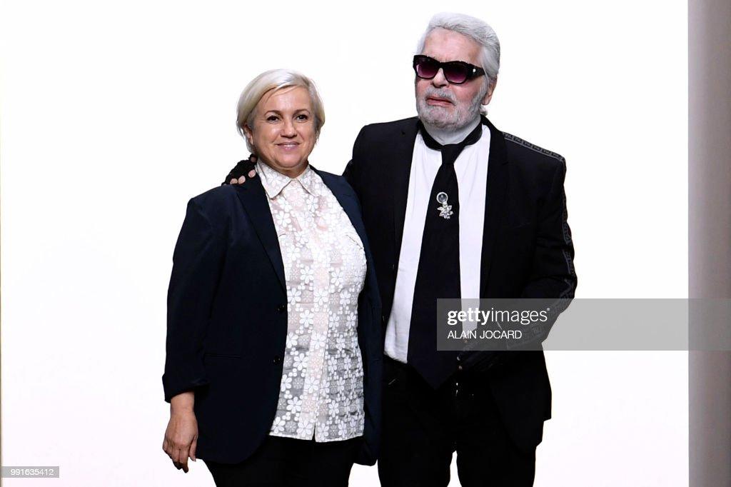 038af19bc6c1 Italian designer Silvia Venturini Fendi and German fashion designer ...
