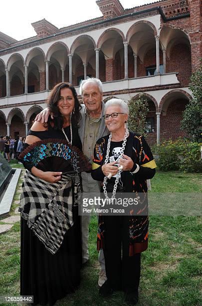Italian designers Angela Missoni Ottavio Missoni and his wife Rosita attend the Missoni Spring/Summer 2012 fashion show as part Milan Womenswear...