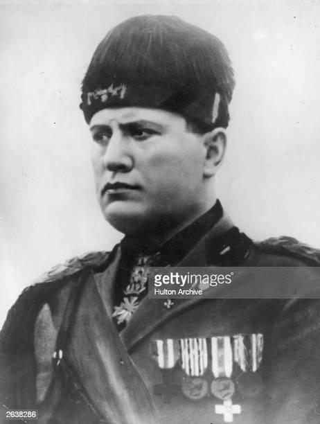 Italian dictator Benito Mussolini