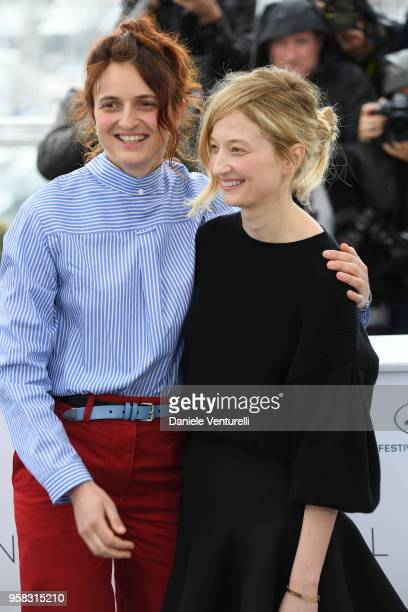 Italian Director Alice Rohrwacher and Actress Alba Rohrwacher attend the photocall for the 'Happy As Lazzaro ' during the 71st annual Cannes Film...