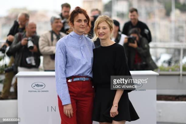 Italian director Alice Rohrwacher and Italian actress Alba Rohrwacher pose on May 14 2018 during a photocall for the film Happy As Lazzaro at the...