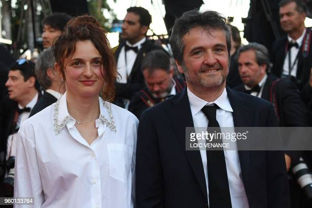 Italian director Alice Rohrwacher and Italian producer Carlo CrestoDina arrive on May 19 2018 for the closing ceremony and the screening of the film...