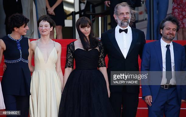 Italian director Alice Rohrwacher Italian actress Alba Rohrwacher Italian actress Monica Bellucci Belgian actor Sam Louwyck and Italian producer...