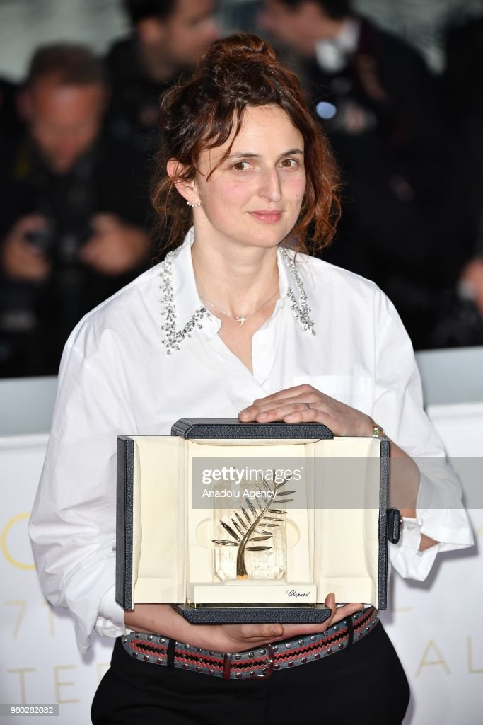 Italian director Alice Rohrwacher poses during the Award Winners photocall after she won Best Screenplay Prize for Lazzaro Felice at the 71st Cannes Film Festival in Cannes, France on May 19, 2018.