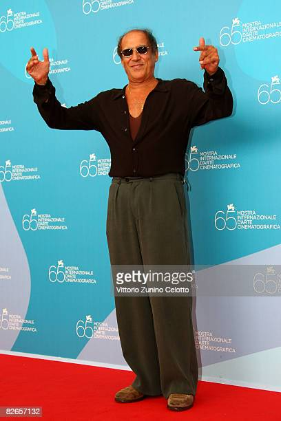Italian Director and actor Adriano Celentano attends the 'Yuppi Du' photocall at the Piazzale del Casino during the 65th Venice Film Festival on...