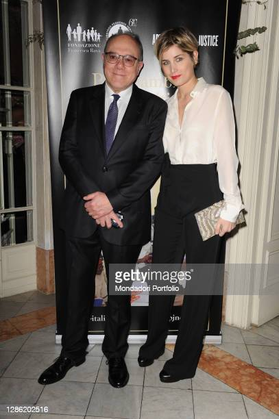 Italian director and actor Carlo Verdone and his daughter Giulia at the fundraising evening, organized by the Francesca Rava Foundation - N.R.H....