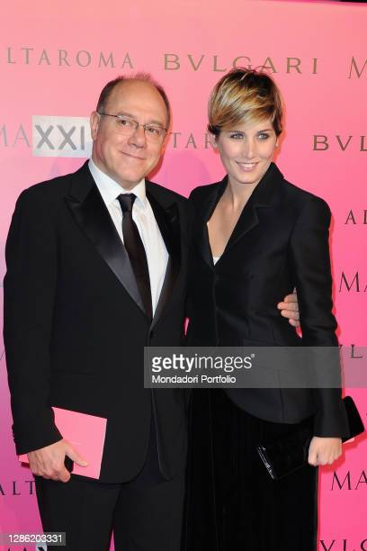 Italian director and actor Carlo Verdone and his daughter Giulia Verdone participate in the Dinner Gala at the Maxxi Museum on the occasion of the...