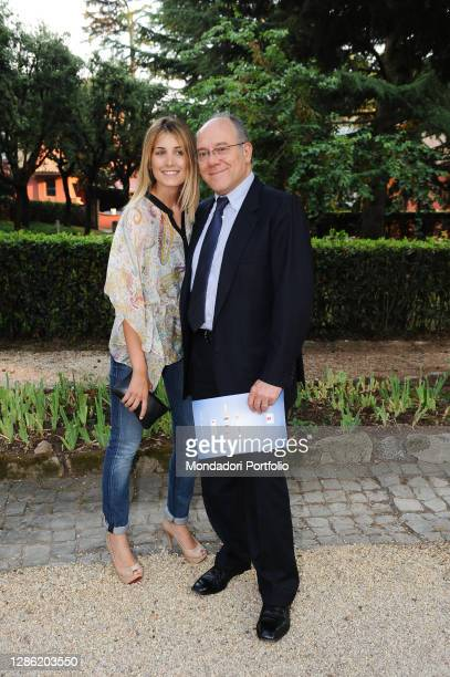 Italian director and actor Carlo Verdone and his daughter Giulia Verdone on the occasion of the 50th edition of the Globo d'Oro, film award from the...