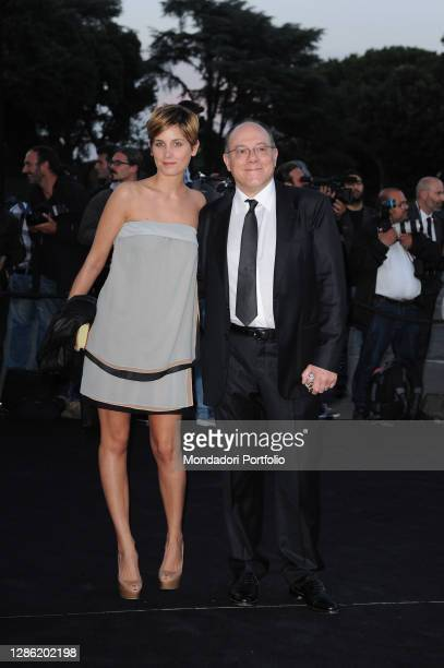 Italian director and actor Carlo Verdone with his daughter Giulia Verdone during the Giorgio Armani One Night Only 4 event, organized at the Palazzo...