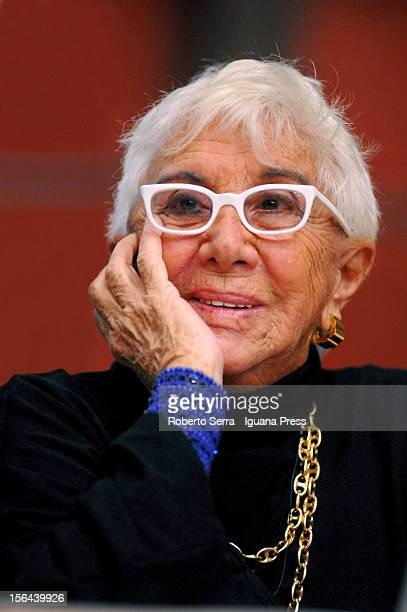 Italian director and author Lina Wertmuller attends the presentation of her autobiographical book 'Tutto a Posto Niente in Ordine' at Archiginnasio's...