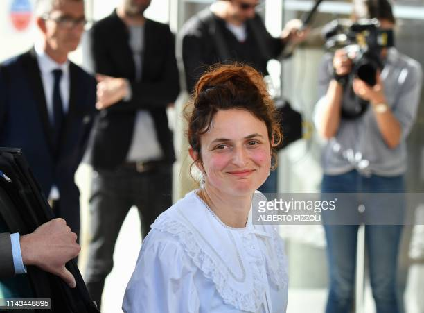 Italian director and member of the Feature Film Jury Alice Rohrwacher arrives on May 13 2019 at the Hotel Martinez on the eve of the opening of the...