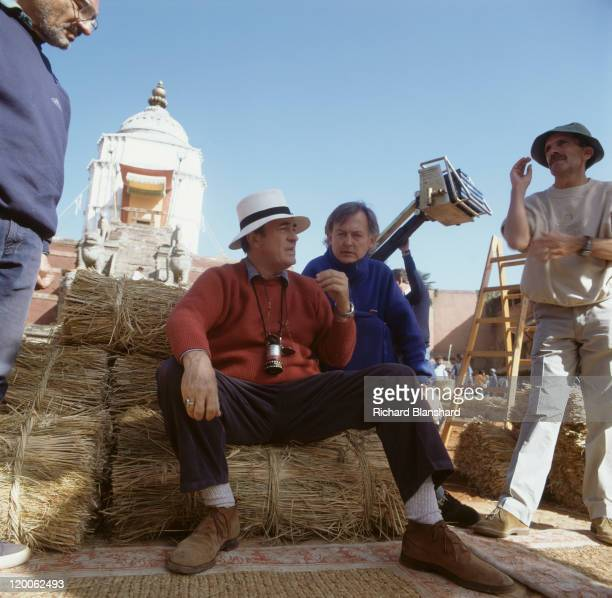 Italian director Bernardo Bertolucci on the set of the film 'Little Buddha' in Asia circa 1992