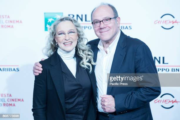 Italian director Carlo Verdone and Italian actress Eleonora Giorgi during the photocall for the 30-year-old Italian film Borotalco on the sixth day...