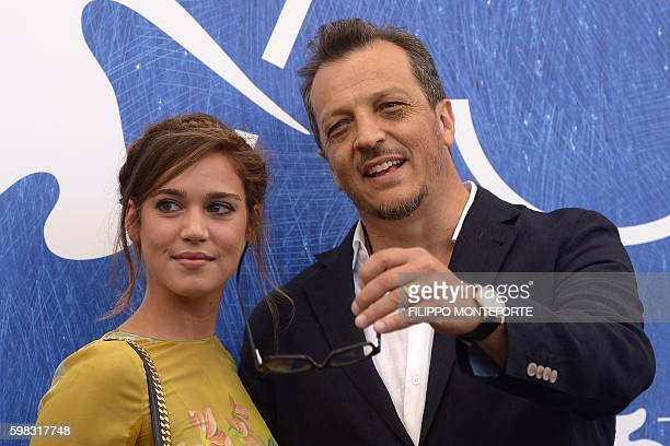 Italian director Gabriele Muccino and actress Matilda Lutz pose during a photocall of the movie L'Estate Addosso presented out of competition at the...