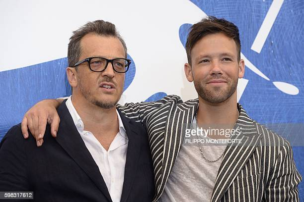 Italian director Gabriele Muccino poses with actor Taylor Frey during a photocall of the movie L'Estate Addosso presented out of competition at the...