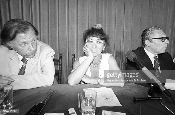Italian director Lina Wertmuller sitting in the jury of Angelo Rizzoli Prize Ischia 1979