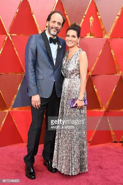 Italian director Luca Guadagnino and guest arrive for the 90th Annual Academy Awards on March 4 in Hollywood California / AFP PHOTO / ANGELA WEISS