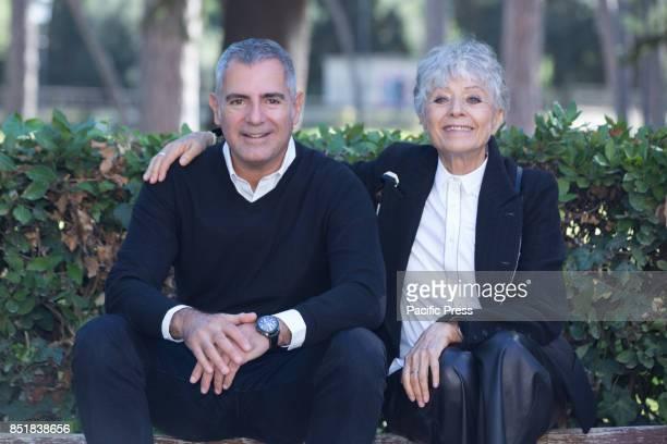 Italian director Luca Manfredi and Erminia Ferrari wife of Nino Manfredi during Photocall of the new Italian fiction In Arte Nino based on the life...