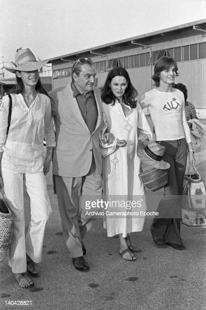 Italian director Luchino Visconti with Lucia Bose Miguel Bose and Lucia Dominiguin Venice 1972