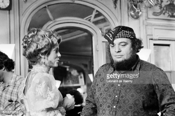 Italian Director Marco Ferreri and Actress Catherine Deneuve on the Set of Touche Pas a la Femme Blanche