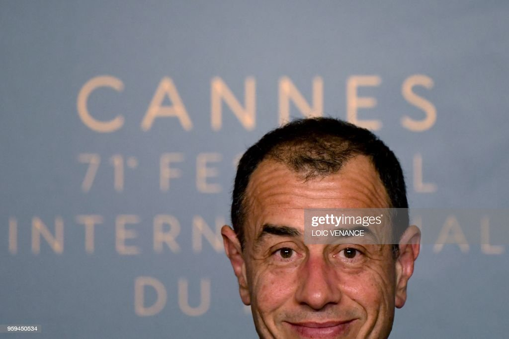 TOPSHOT - Italian director Matteo Garrone attends on May 17, 2018 a press conference for the film 'Dogman' at the 71st edition of the Cannes Film Festival in Cannes, southern France.